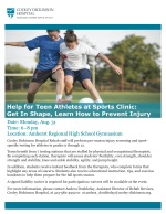 Sports Clinic Flyer August 2015