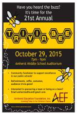 AEF Trivia Bee 2015 poster