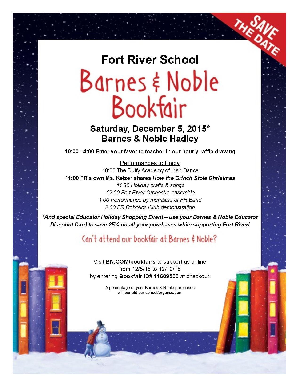 Fort River School Barnes and Noble Book Fair | ARHS PGO Parent News