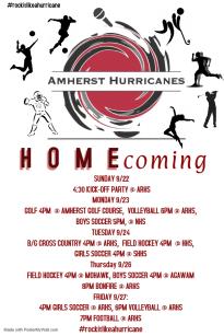 Homecoming poster draft